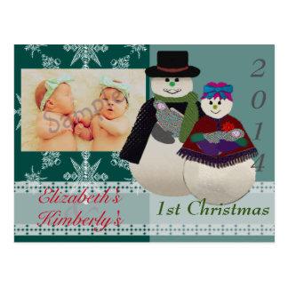 U escoge navidad del gemelo recién nacido del postal