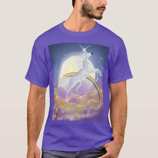 U está para el unicornio camiseta