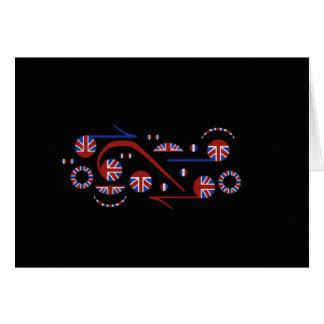U.K. Notas musicales de la bandera Felicitación