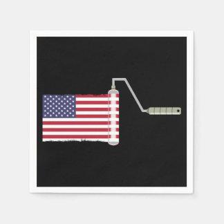 U.S.A. Rodillo de pintura de la bandera Servilleta Desechable