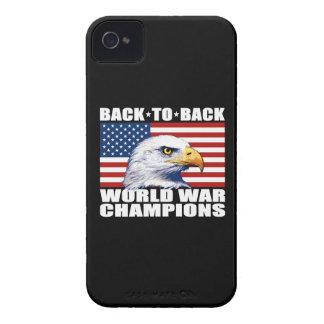 U.S. Bandera y campeones de la guerra mundial de iPhone 4 Case-Mate Carcasa