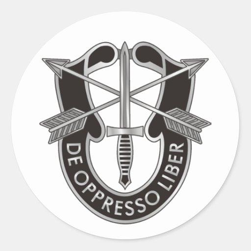 U.S. Escudo de las fuerzas especiales Pegatina Redonda