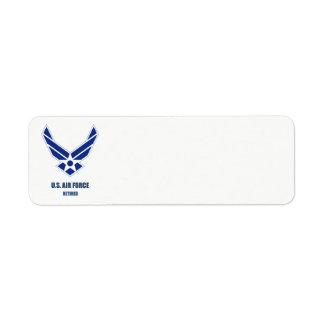U.S. Etiqueta jubilada fuerza aérea