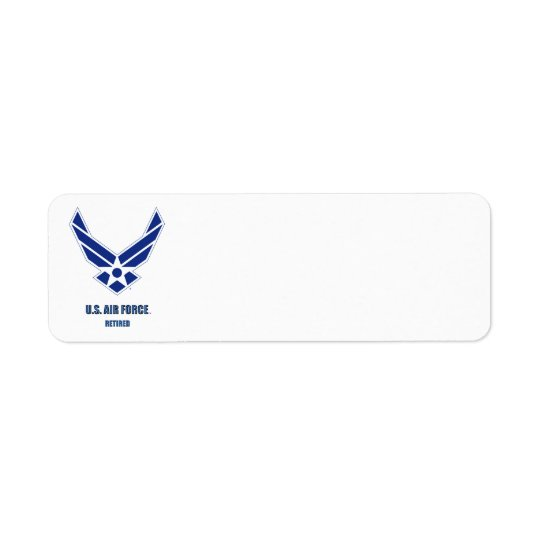 U.S. Etiqueta jubilada fuerza aérea del remite Etiqueta De Remitente