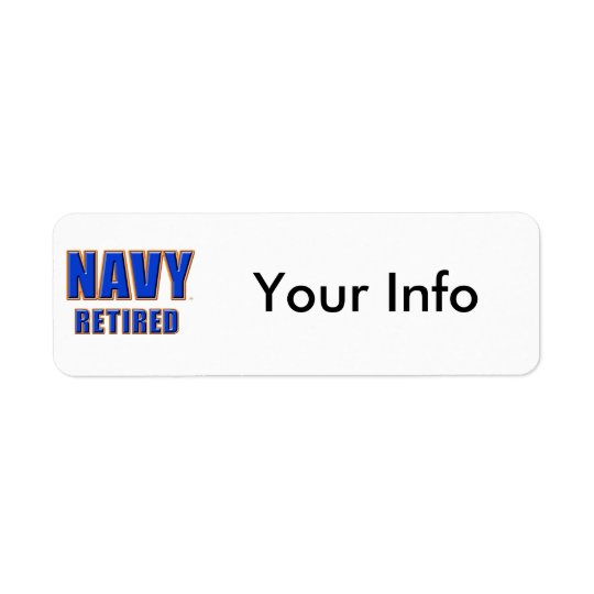 U.S. Etiquetas jubiladas marina de guerra del Etiqueta De Remitente