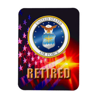 U.S. Imán flexible jubilado fuerza aérea de la