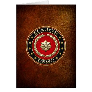 U.S. Infantes de marina: Major (comandante) del US Felicitación
