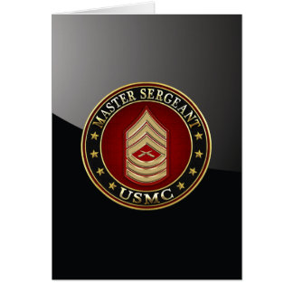 U.S. Infantes de marina: Sargento mayor (USMC Tarjeta
