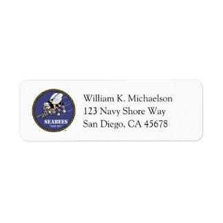 U.S. Ingenieros des infanteria de marina de la Etiqueta De Remite