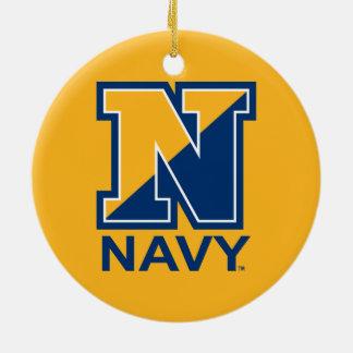 U.S. Inicial N de la marina de guerra de la marina Adorno De Cerámica