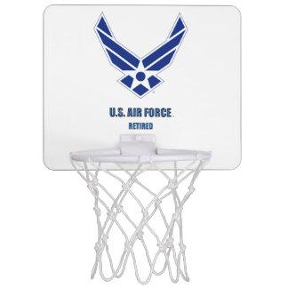 U.S. Mini aro de baloncesto jubilado fuerza aérea