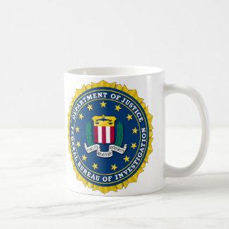 U.S. MINISTERIO DE JUSTICIA - FBI TAZAS