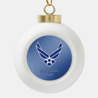 U.S. Ornamento enmarcado copo de nieve jubilado Adorno De Cerámica En Forma De Bola