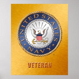 U.S. Poster de la marina de guerra Póster