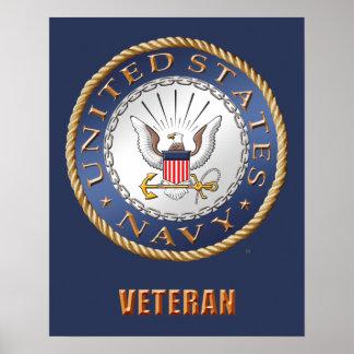 U.S. Poster del veterano de la marina de guerra Póster