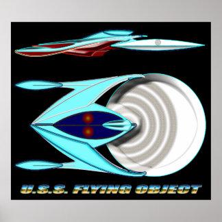 U.S.S. Clase del VUELO OBJECT_MCC-1947_UFO Impresiones