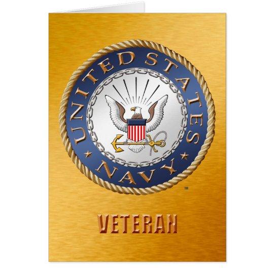 U.S. Tarjeta del veterano de la marina de guerra
