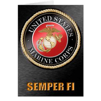U.S. Tarjetas de Semper Fi del Cuerpo del Marines