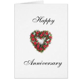 uae-rosa-corazón, feliz, aniversario tarjeta de felicitación