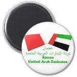 UAE y tejas de la bandera de Ajman Imanes De Nevera