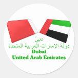 UAE y tejas de la bandera de Dubai Etiquetas