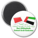UAE y tejas de la bandera de Ras Al Khaimah Iman De Nevera