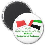 UAE y tejas de la bandera de Sharja Imán