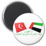 UAE y Umm tejas de la bandera del al-Quwain Imanes De Nevera