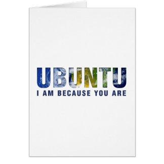 Ubuntu - soy porque usted es tarjeta