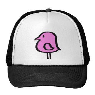 Uccellino rosado gorras de camionero