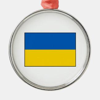 Ucrania - bandera ucraniana adorno de navidad