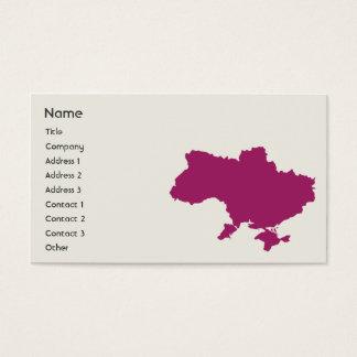 Ucrania - negocio tarjeta de negocios