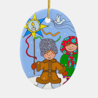 Ucraniano ChristmasCarollers Adorno De Navidad