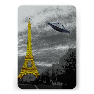 UFO en París Invitacion Personalizada