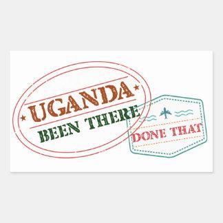 Uganda allí hecho eso pegatina rectangular