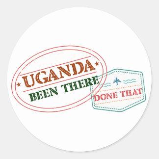 Uganda allí hecho eso pegatina redonda