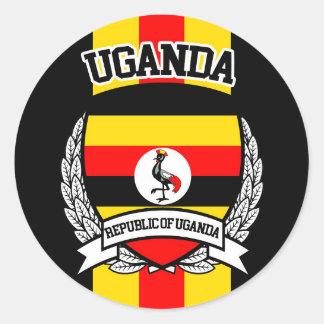 Uganda Pegatina Redonda