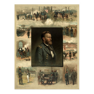 Ulises S. Grant, 1885 Tarjeta Postal