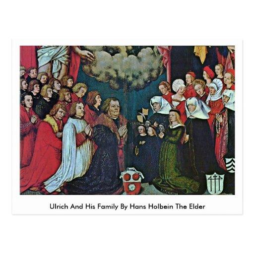 Ulrich y su familia de Hans Holbein la anciano Tarjetas Postales