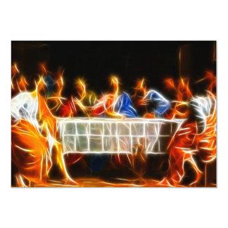 Última cena del Jesucristo Invitación 12,7 X 17,8 Cm