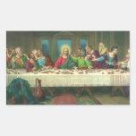 Última cena del vintage con Jesucristo y los Pegatina Rectangular