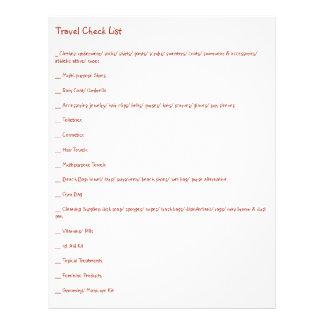Última lista de verificación del viaje para cada flyer