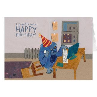 Última tarjeta brutalmente del feliz cumpleaños