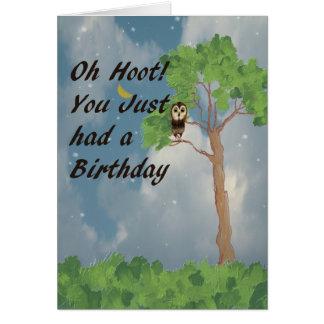 Última tarjeta de cumpleaños con el búho de