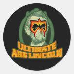 Último Abe Lincoln Pegatina Redonda