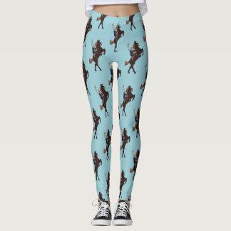 Último azul claro de los jinetes del potro - leggings