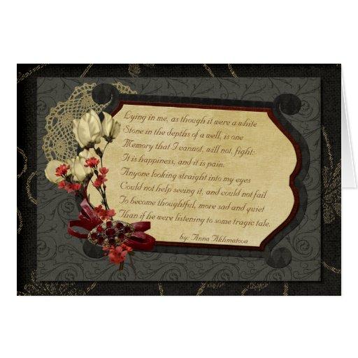 Último poema del amor tarjeton