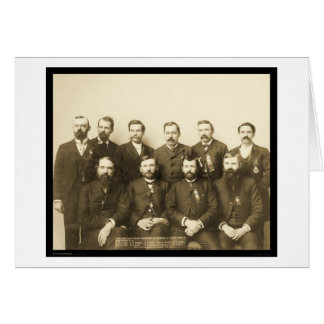 Últimos granes maestros Dakota IOOF SD 1890 Tarjeta De Felicitación