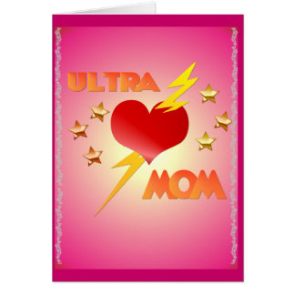 Ultra tarjeta de la mamá