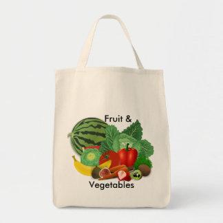 Ultramarinos de la fruta y verdura bolsa tela para la compra
